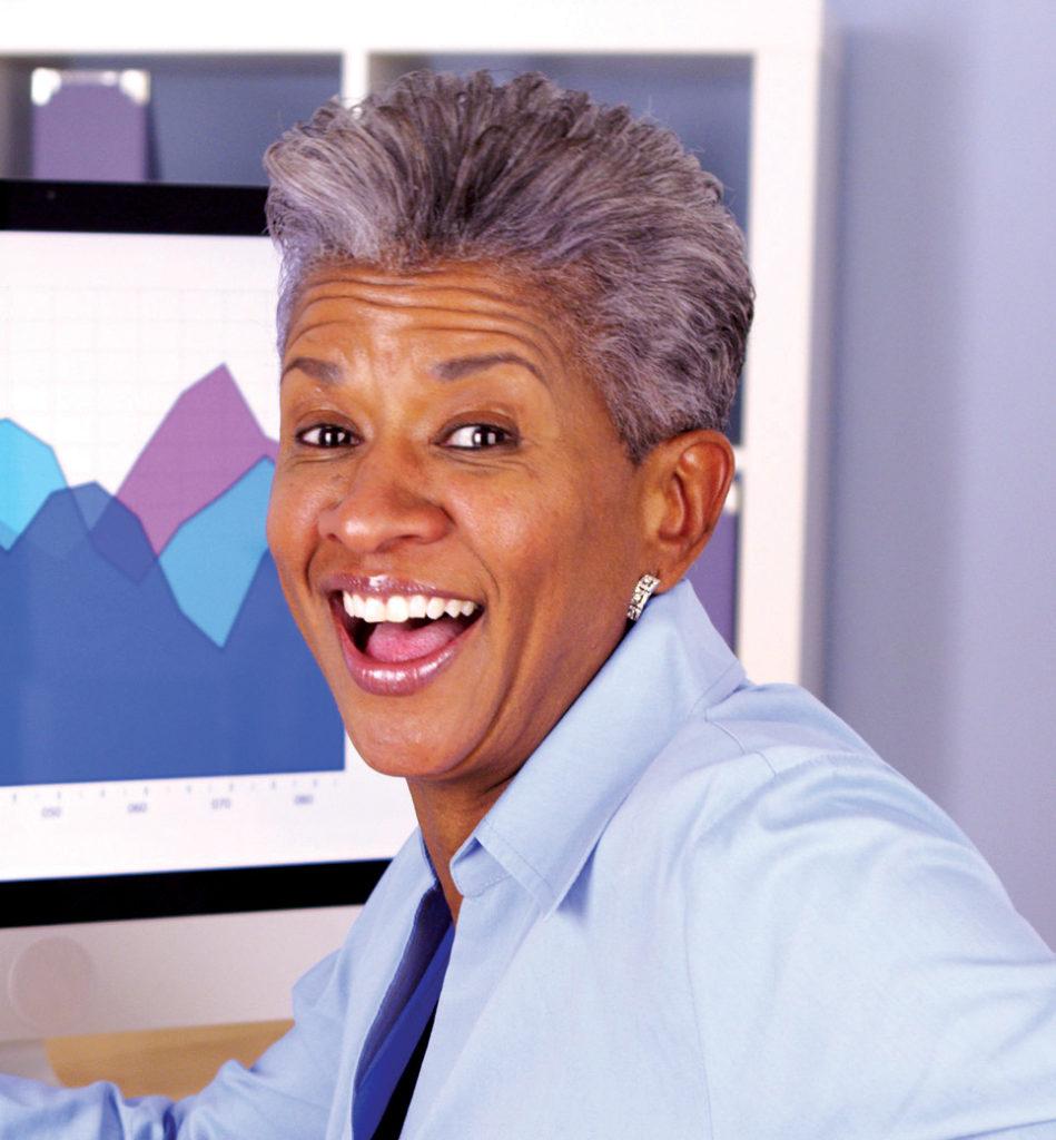 An African American woman.