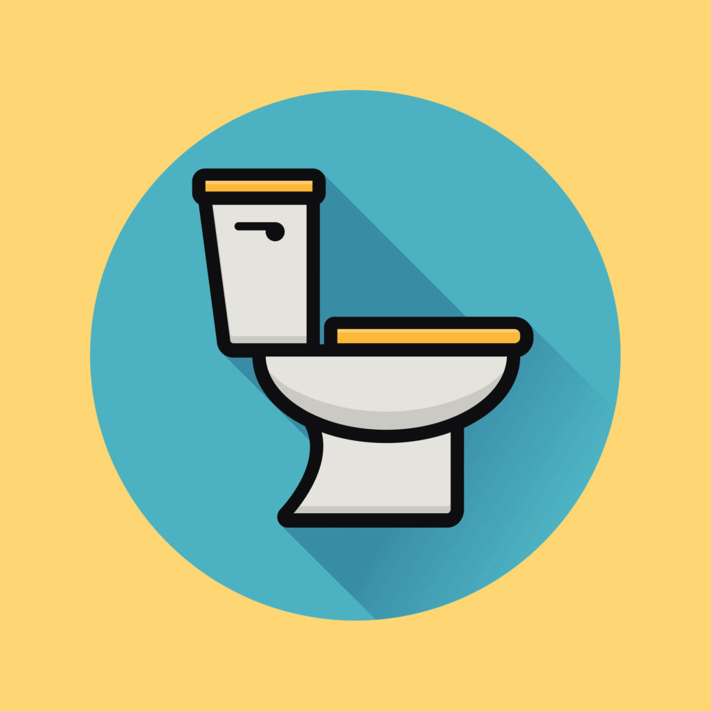 Cartoon of a toilet.
